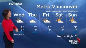 BC Evening Weather Forecast: Dec 20