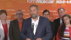"Mulcair says opponents ""making up"" multibillion dollar gap in NDP promises"