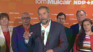 "Mulcair says opponents ""making up"" multibillion dollar gap in NDP promises"