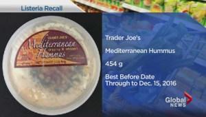 Trader Joes hummus recall