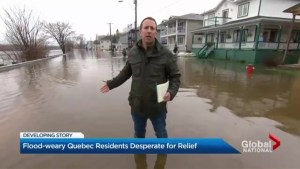 Flood-weary Quebec residents wait for relief