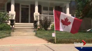 Edmonton neighbourhood displays Canadian pride