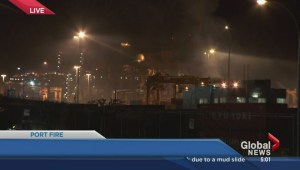 Port of Metro Vancouver fire the morning after