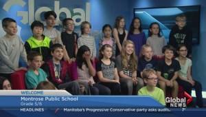 Montrose School visits the Winnipeg Morning News
