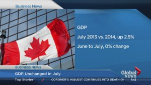 GDP unchanged in July