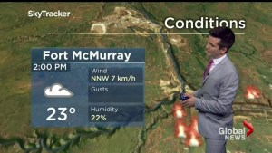Wind gusts, hot weather keep fueling wildfire in Alberta