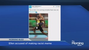 Ellen under fire over Usain Bolt meme