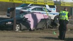 Edmonton police investigate deadly crash involving 3 vehicles near Fort Road