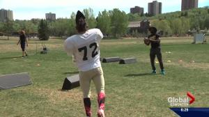 Fort McMurray wildfire evacuee finds peace on the football field