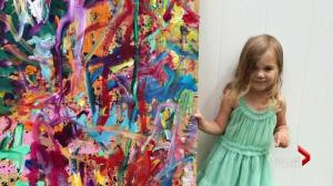 Four-year-old art phenom raising money for charity