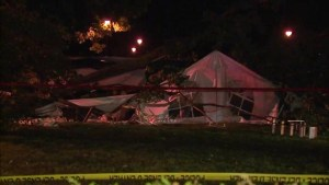 10 injured in Granby after tree crushes tent