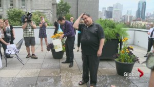 Coderre takes on the ice bucket challenge