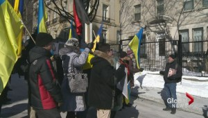 Protest in support of Ukraine in Montreal