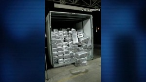 U.S. Customs seizes 15 tons of marijuana hidden in truck shipment