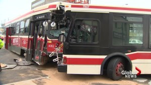 TTC bus and streetcar collided, 5 injured