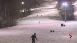 Ontario ski resorts busy despite lack of snow fall