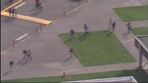Raw video: Students flee Marysville Pilchuck High School following shooting