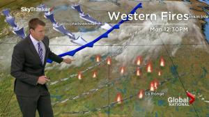 Weather forecast for wildfire hit western Canada