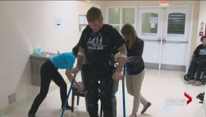 Newly available exoskeleton suit allowing paralyzed Canadians to walk again