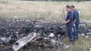 Raw video: Worker comb through remains of MH17