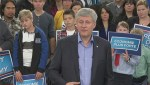 "Stephen Harper calls Canada's economy an ""island of stability"""
