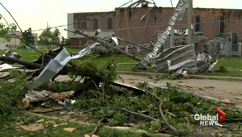 Possible tornado touches down in Windsor area causing damage; no injuries