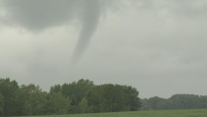 Funnel cloud spotted near Airdrie on Saturday