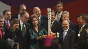 RAW: Rio 2015 Olympic torch revealed