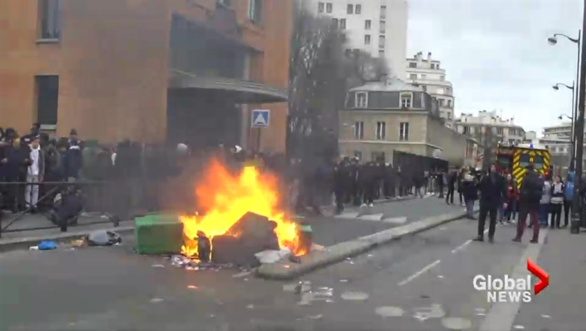 Paris teens block schools, protesting police violence