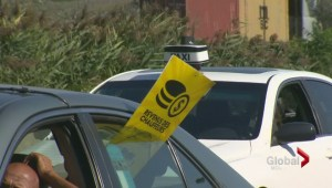 Taxi drivers protest Uber
