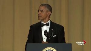 Barack Obama mocks Ted Cruz over 'basketball ring' comment at White House Correspondents' Dinner