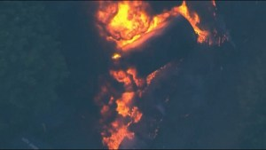 Oil train derails in Oregon setting off major blaze