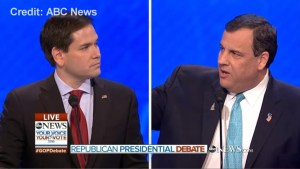 Chrsitie calls out Rubio for repeating scripted Obama attack throughout debate