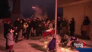 Redwater community hosts vigil for bullied teenager who died by suicide