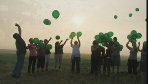 Balloons Fill The Sky To Honor Murder Victim