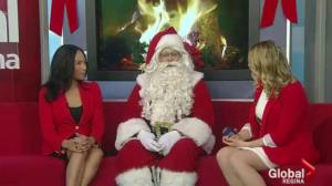 Santa Claus visits Global Regina