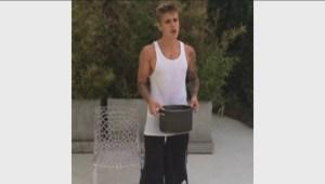 Bieber takes Ice Bucket Challenge