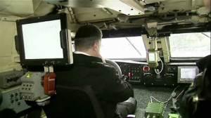 Ukraine president test drives armoured personnal carrier