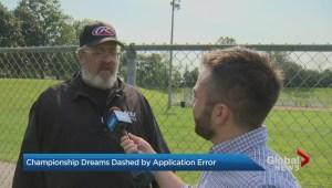Brampton baseball team's championship dreams dashed by application error