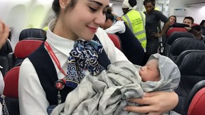 Baby girl born 42,000 ft in the air on Turkish Airlines flight