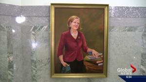 Portrait of former premier Alison Redford put up at Alberta legislature