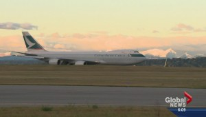 Massive cargo plane touches down at YYC for first time