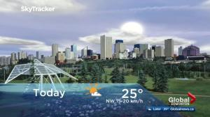Edmonton early morning weather forecast: Tuesday, July 25, 2017