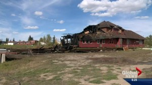 Historic Bassano rail station in Beiseker destroyed by fire