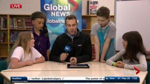 Jordan Witzel visits Riverbend School as part of Weather School