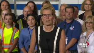 Kathleen Wynne admits Ontario is still 'catching up' when it comes to infrastructure