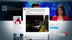 Comedy website's train tweet on suicide offends TTC