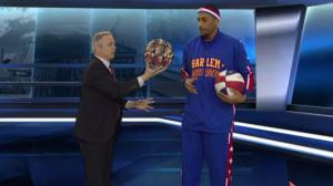 Harlem Globetrotters Zeus McClurkin shows off his moves