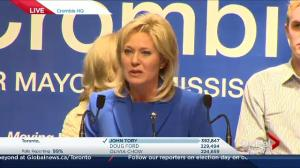 Ontario Civic Election: Bonnie Crombie addresses her supporters