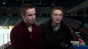 Calgary Hitmen Sanheim Twins